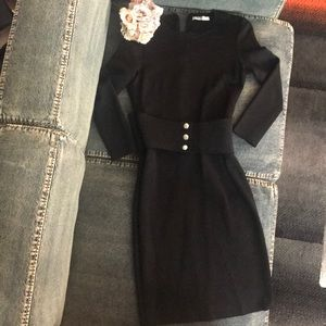 Givenchy black long sleeve dress